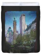 Nyc Central Park 2 Duvet Cover by Ylli Haruni