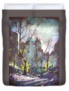 Nyc Central Park Controluce Duvet Cover by Ylli Haruni