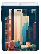 Nyc Colors And Lines II Duvet Cover