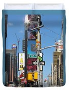 Nyc Directions Duvet Cover