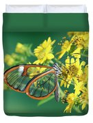 Nymphalid Butterfly Pteronymia Sp Duvet Cover