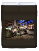 Nypd Bikes Duvet Cover by Yhun Suarez