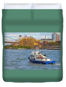Nypd In The Water Duvet Cover