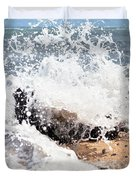 Oahu North Shore Splash Duvet Cover