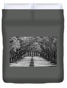 Oak Alley Monochrome Duvet Cover by Steve Harrington