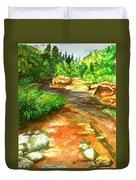 Oak Creek Red Duvet Cover
