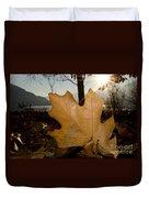 Oak Leaf In Backlight Duvet Cover
