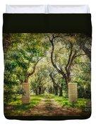 Oak Tree Lined Drive Duvet Cover