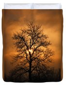 Oak Tree Sunburst Duvet Cover