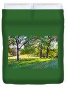 Oak Trees In The Spring Duvet Cover