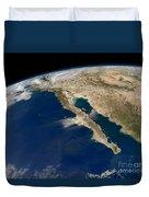 Oblique View Of Baja California Duvet Cover