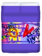 Occupy Graffiti Love Duvet Cover