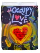 Occupy The Heart Duvet Cover