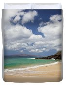 Ocean And Sky Of Makena Beach Duvet Cover