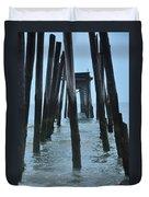 Ocean City 59th Street Pier Duvet Cover
