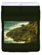Ocean Pounded Rock  Duvet Cover
