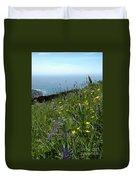Ocean Wildflowers Duvet Cover
