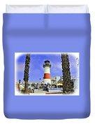 Oceanside Lighthouse Duvet Cover