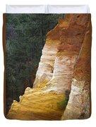 Ochre Quarry Of Roussillon, Provence Duvet Cover