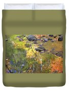 October Colors Reflected Duvet Cover