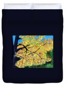 October Fall Foliage Duvet Cover
