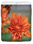 October Mums Duvet Cover by Darren Fisher