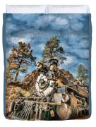 Of Mountain And Machine Duvet Cover