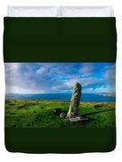 Ogham Stone, Dunmore Head, Dingle Duvet Cover