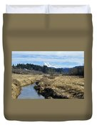 Ohop Valley View Of Rainier Duvet Cover