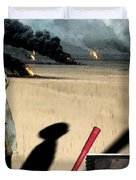 Oil Wars Duvet Cover