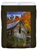 Old Abandoned House In Fall Duvet Cover