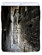 old alley in Italy Duvet Cover