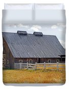Old Barn And Fence Duvet Cover