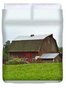 Old Barn On 264th. Street Duvet Cover