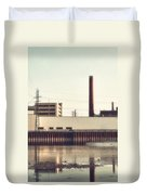 Old Bergstom Smokestack Duvet Cover