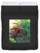 Old Bike And Weeds Duvet Cover