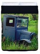 Old Blue Ford Truck Duvet Cover