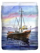Old Boat Duvet Cover