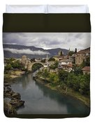 Old Bridge Of Mostar Duvet Cover by Ayhan Altun
