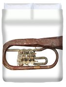Old Broken Trumpet - Isolated Duvet Cover