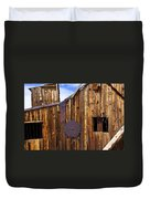 Old Building Bodie Ghost Town Duvet Cover