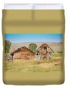 Old Building Woodruff Utah Duvet Cover