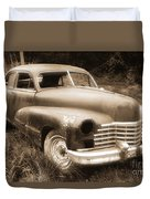 Old Caddy-sepia Duvet Cover