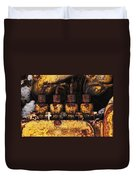 Old Cat In The Woods Duvet Cover