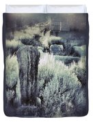 Old Cemetery On A Hill Duvet Cover