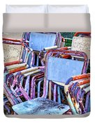 Old Chairs Duvet Cover