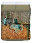 Old Chevy In The Field Duvet Cover