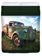 Old Chevy Tanker Truck Duvet Cover