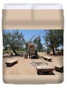 Old Chuck Wagon Duvet Cover