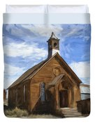 Old Church At Bodie Duvet Cover
